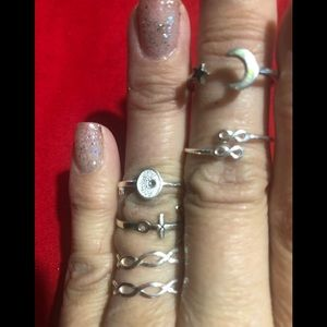 Rings sterling bundle size 7